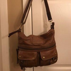 Brown Leather Fossil Hobo Bag